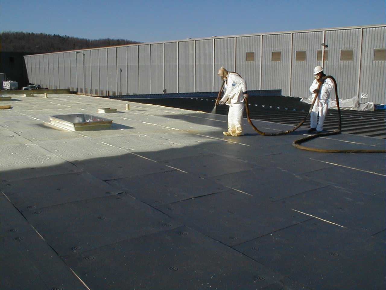 Polyurethane Foam Decking : Steps new construction metal deck